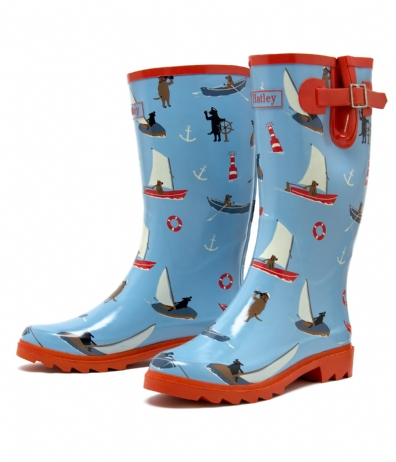 Hatley Sailing Dogs Rain Boots